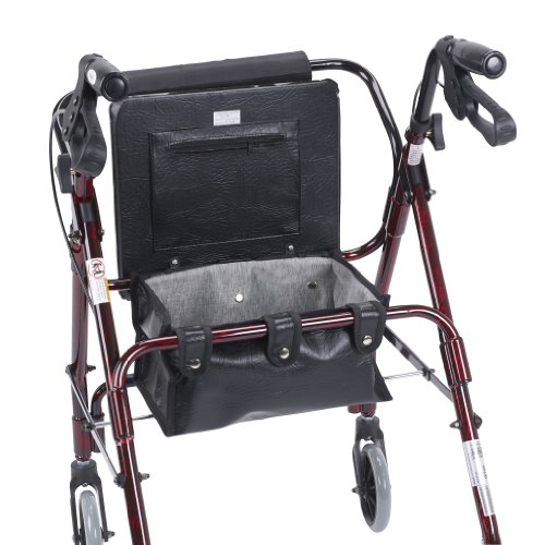 Drive Medical Mimi Lite Deluxe Aluminum Rollator, Flame Red by Drive Medical (Image #2)