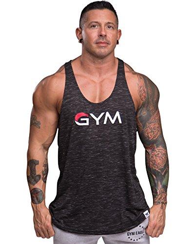 39e7812c020c20 Men s Gym Stringer Tank Top Bodybuilding Athletic Workout Muscle Fitness  Vest (X-Large