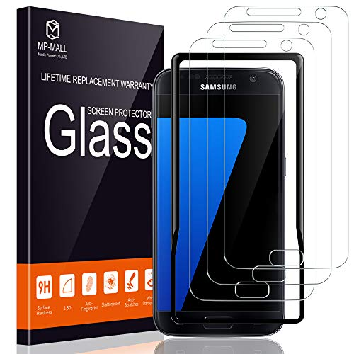 MP-MALL [3-Pack] Screen Protector for Samsung Galaxy S7, [Alignment Frame Easy Installation] [Tempered Glass] Case Friendly with Lifetime Replacement Warranty