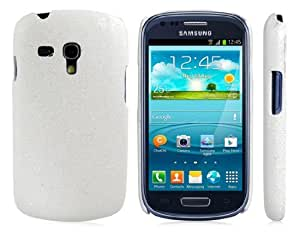 Wrui Glittery Plastic Case for Samsung Galaxy Mini I8190 (White)
