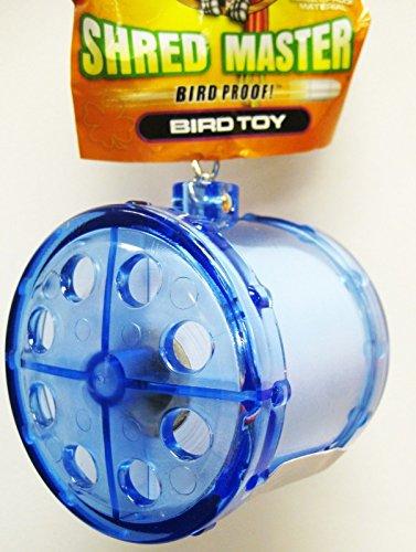 Bonka Bird Toys 0038 Shred Master Bird Toy cage Toys Cages Bulletproof Plastic Shredder Cockatiel (Blue) (Lucky Bird Shredmaster Refill)