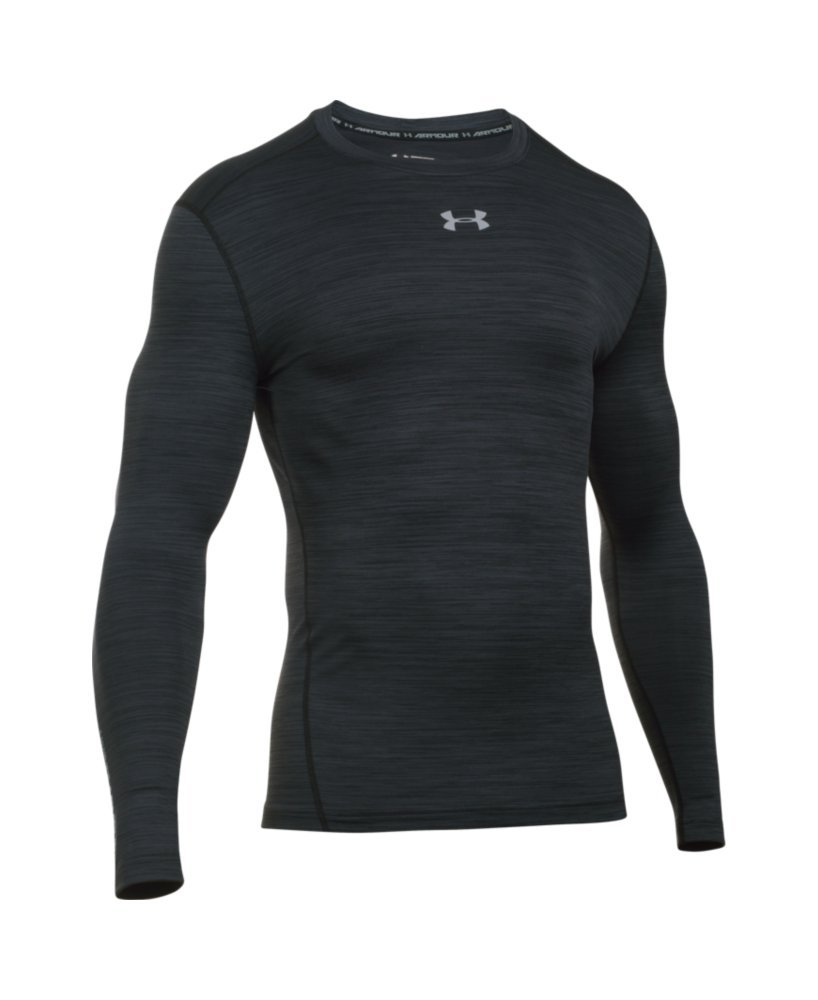 Under Armour Men's ColdGear Armour Twist Compression Crew, Black/Steel, Medium by Under Armour (Image #4)