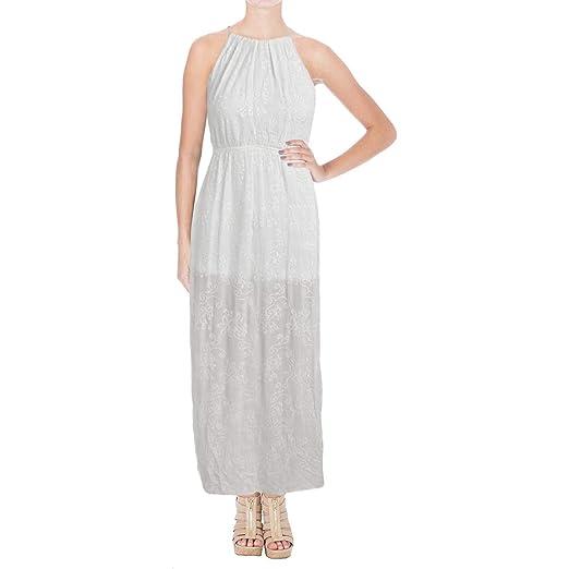 c26d4f4d0769 Aqua Womens High Neck Embroidered Maxi Dress at Amazon Women s ...