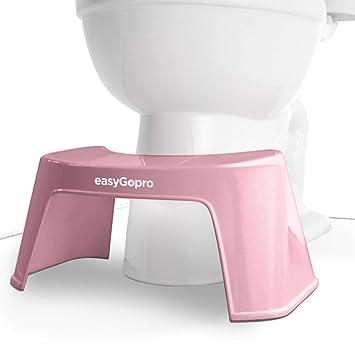 Easygopro Toilettenhocker Für Einen Gesunden Stuhlgang Rosa Amazon