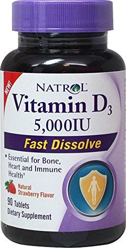 Natrol Vitamin D3 5000iu pack