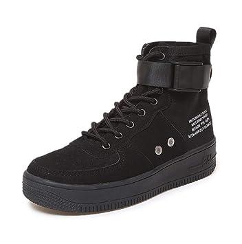 bf845d4d7287a SHANGWU Zapatillas Altas para Mujer Zapatillas de Hip-Hop para Mujer  Zapatos de Chapado de
