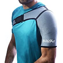 Shoulder Brace - Adjustable Support for Men and Women - Neoprene Compression Sleeve - Relieves Pain for Rotator Cuff Injury, Dislocated Joint, Sport Injuries - Left or Right Compatible - Large Size