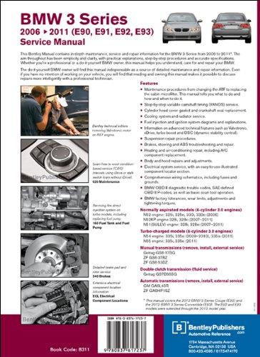 BMW 3 Series Service Manual 2006-2011: 325i 325xi 328i 328xi 330i 330xi 335i 335is 335xi: Amazon.es: Bentley Publishers: Libros en idiomas extranjeros