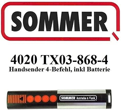 /4762/V001 /Mando a distancia de pared 3/canales 868/mhz de motorizaci/ón para puerta de garaje Sommer/ Sommer/