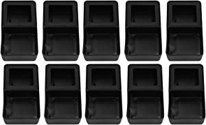 HEEPDD 10pcs Reptile Feeder, Mini Double Dish Mealworm Feeder Black Worm Reptile Food and Water Bowl Shelter Hide Bath Toy for Tortoise Gecko Chameleon Iguana Lizard