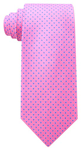 Scott Allan Men's 100% Silk Polka Dot Tie - Pink/Blue