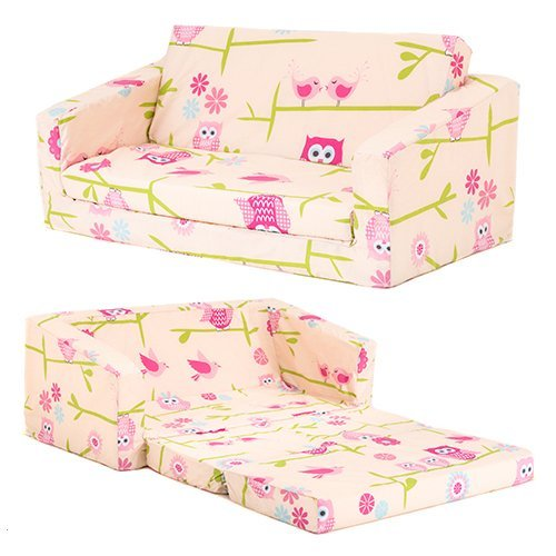 Owls Children's 'Lily' Foam Fold Out Sofa Bed Lounger Ready Steady Bed