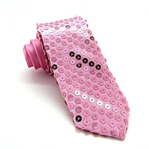 Cravate Slim Strass Rose (classic)