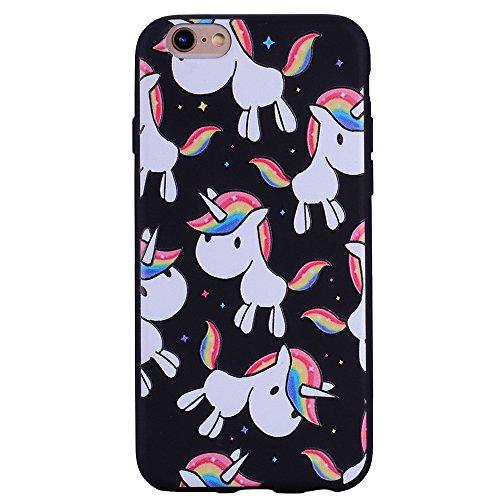 Color de la funda suave de TPU para iPhone 6s Plus / iPhone 6 Plus ( PATTERN : Arrow ) Rainbow Pony