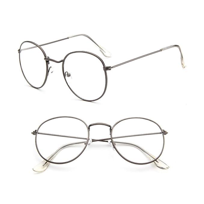 084ed89ec83 Amazon.com  SimpleLif Vintage Men Women Eyeglass Metal Frame Glasses Round  Spectacles Clear Lens Optical  Home   Kitchen