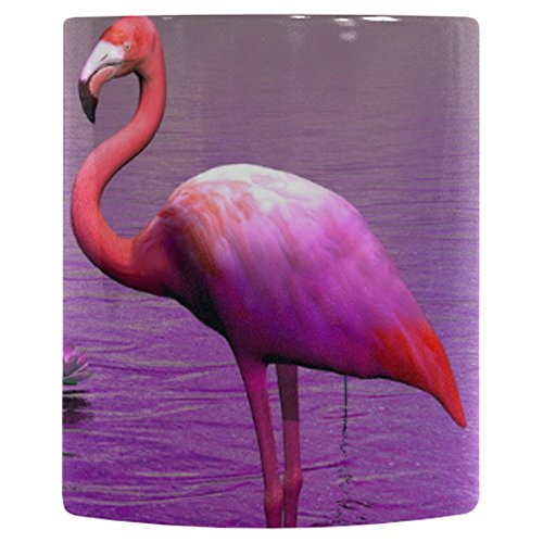 InterestPrint Beautiful Pink Flamingo Heat Sensitive Color Changing Coffee Mug, Water Lily and Violet Sky Morphing Travel Mug Tea Cup Funny, 11 Ounce - Beautiful Pink Lilies