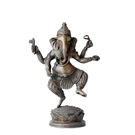 Toperkin Buddha Statue Ganesh/Ganesha Statues Buddhist Elephant Garden  Statues Bronze Sculptures TPFX 053