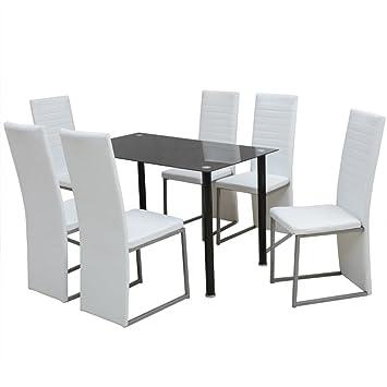 Vidaxl Essgruppe Esstisch 6 Stuhlen Esszimmerstuhl Tisch Sitzgruppe