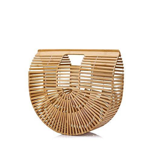 Dimensioni Donna Borsa Spiaggia Grandi Bambù Di Borse OnXEgqfRxR