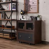 Best Furniture of America File Cabinets - Furniture of America Gena Industrial 1-Drawer Vintage Walnut Review