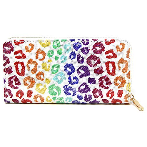 (by you Women Holographic 3D Long Clutch Wallet Zipper Closure Card Slots Zippered Coin Pouch (MULTI ANIMAL)