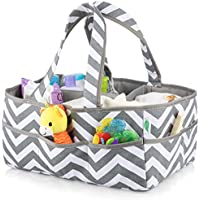 Large Washable Baby Diaper Caddy Organizer Bag - 100%...