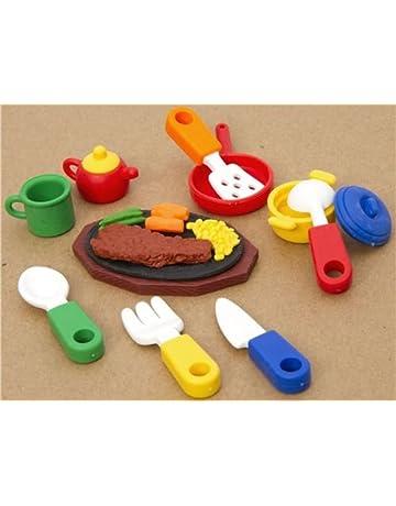 Set de gomas con forma de utensilios de cocina 10 unidades
