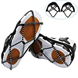 Walk Traction Cleats Ice Gripper Crampons Stainless Steel Silicone Non-Slip Snow Winter Traction Device Spring Cleats Crampon Slip on Lightweight Steel Coils, Traction Device Footwear for Skating Climbing Fishing Walking Jogging Hiking