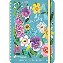 "Katie Daisy 2020 - 2021 On-the-Go Weekly Planner: 17-Month Calendar with Pocket (Aug 2020 - Dec 2021, 5"" x 7"" closed): Hello Beauty"