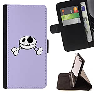 Jordan Colourful Shop - Funny Happy Skull Smiley For Apple Iphone 6 - Leather Case Absorci???¡¯???€????€??????????