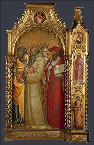 5 Blade 56' Blade (Oil Painting 'Saints Peter, Romuald, Catherine And Jerome About 1420-4, Giovanni Dal Ponte' 8 x 12 inch / 20 x 31 cm , on High Definition HD canvas prints, Garage, Powder Room And Study Room decor)