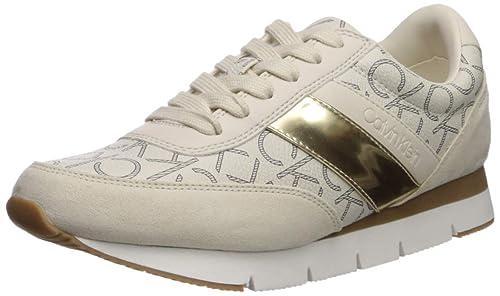 Calvin Klein Women's Tea Sneaker, Gold