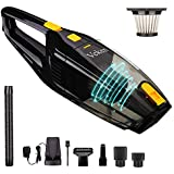 Veken Rechargeable Handheld Vacuum, Powerful Suction Cordless Vacuum, Portable Car Vacuum & Wet Dry Vacuum Cleaner for Floor/Pet/Car Cleaning