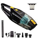 Veken Rechargeable Handheld Vacuum, Powerful Suction Cordless Vacuum, Portable Car Vacuum & Wet Dry Vacuum Cleaner for Floor/Pet/Car Cleaning