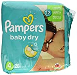Health & Personal Care : Pampers Baby Dry Diapers - Unisex Size 4 28.00 ct