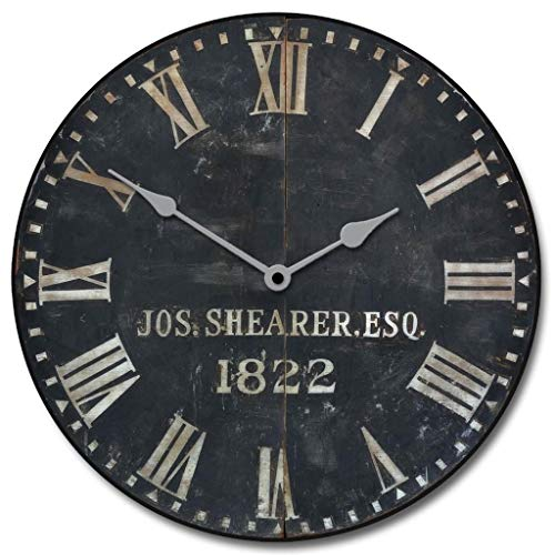 1822 Old Sheriffs Wall Clock, Available in 8 Sizes, Most Sizes Ship The Next Business Day, Whisper Quiet.