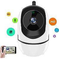 Cámara IP 1080P, Cámara de Vigilancia WiFi Interior Inalámbrico,BONKEEY Cámara de Seguridad, con Micrófono y Altavoz, Visión Nocturna, Detección de Movimiento, Seguridad para Bebé y Mascotas,View Remotely,2.4GHz WiFi, Compatible con iOS/Android