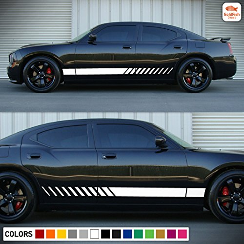 Racing Side Stripe Kit Sticker Decal Compatible with Dodge Charger SE SXT R/T SRT8