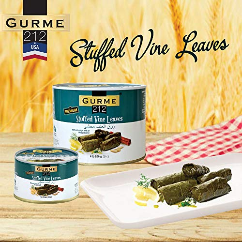 Gurme212 Premium (Bulk 6-pack) 4.4 lbs Stuffed Vine Leaves (Dolmades) with Olive Oil (1-can available) by GURME 212 (Image #1)