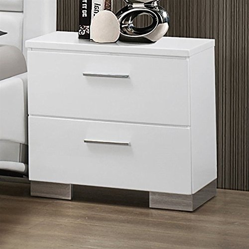 Coaster Company Felicity Collection Nightstand, White