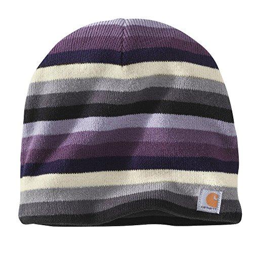 Striped Knit Beanie Hat - 1