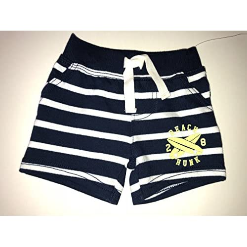 Drawstring Beach Hunk 3 Months Just One You Baby Boys 2pc Surf//Stripe Tank Top w Striped Shorts.Elastic Waistband