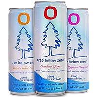Deals on 12Pk Tree Below Zero Sparkling Juice Flavored Hemp Infused Soda