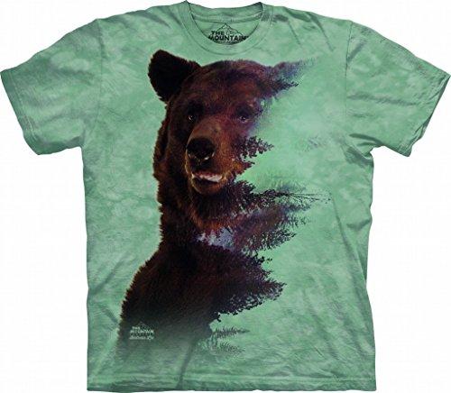 (Tuff America Brown Bear Forest Small Cotton Bears T-Shirt Green Adult Men's Women's Short Sleeve T-Shirt)