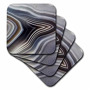 Danita Delimont - Rocks - Botswana Banded Agate, Quartzsite, gray - set of 8 Coasters - Soft (cst_229596_2)