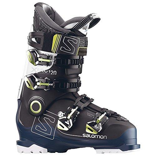 Salomon X Pro 120 Ski Boot Black/Petrol Blue/White, 25.5 (Ski Salomon Mountain Boots)