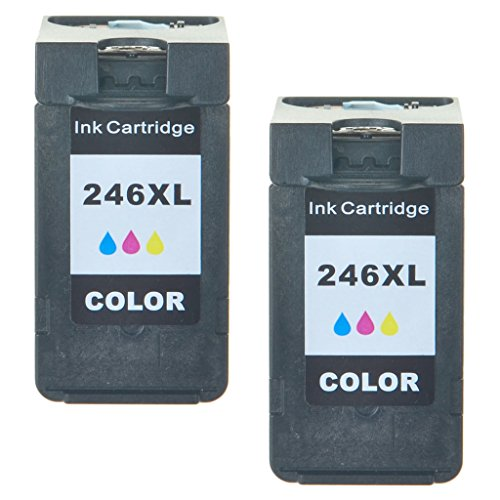 SuperInk 2PK CL-246XL CL-246 246XL 246 XL Remanufactured High Yield Ink Cartridge Compatible With Pixma MG2522 MX492 MG2520 MG2920 MG2420 MX490 MG2525 MG2555 MG3020 - Show Accurate Ink Level