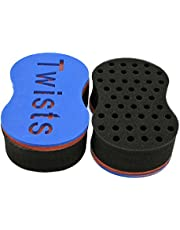 Hair Brush Sponge Twist Wave Barber Tool For Dreads Afro Locs Twist Curl Coil Black(1 Pack)