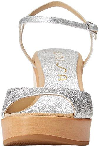 se Sandales Ontral silver Bout Femme Ouvert 18 Unisa Argent Ztqwt