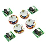 Gikfun DC 5V 28BYJ-48 ULN2003 Stepper Motor + ULN2003 Driver Board for Arduino (Pack of 4 Sets) EK1102x4